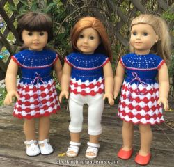 American Girl Doll Independence Day Dress