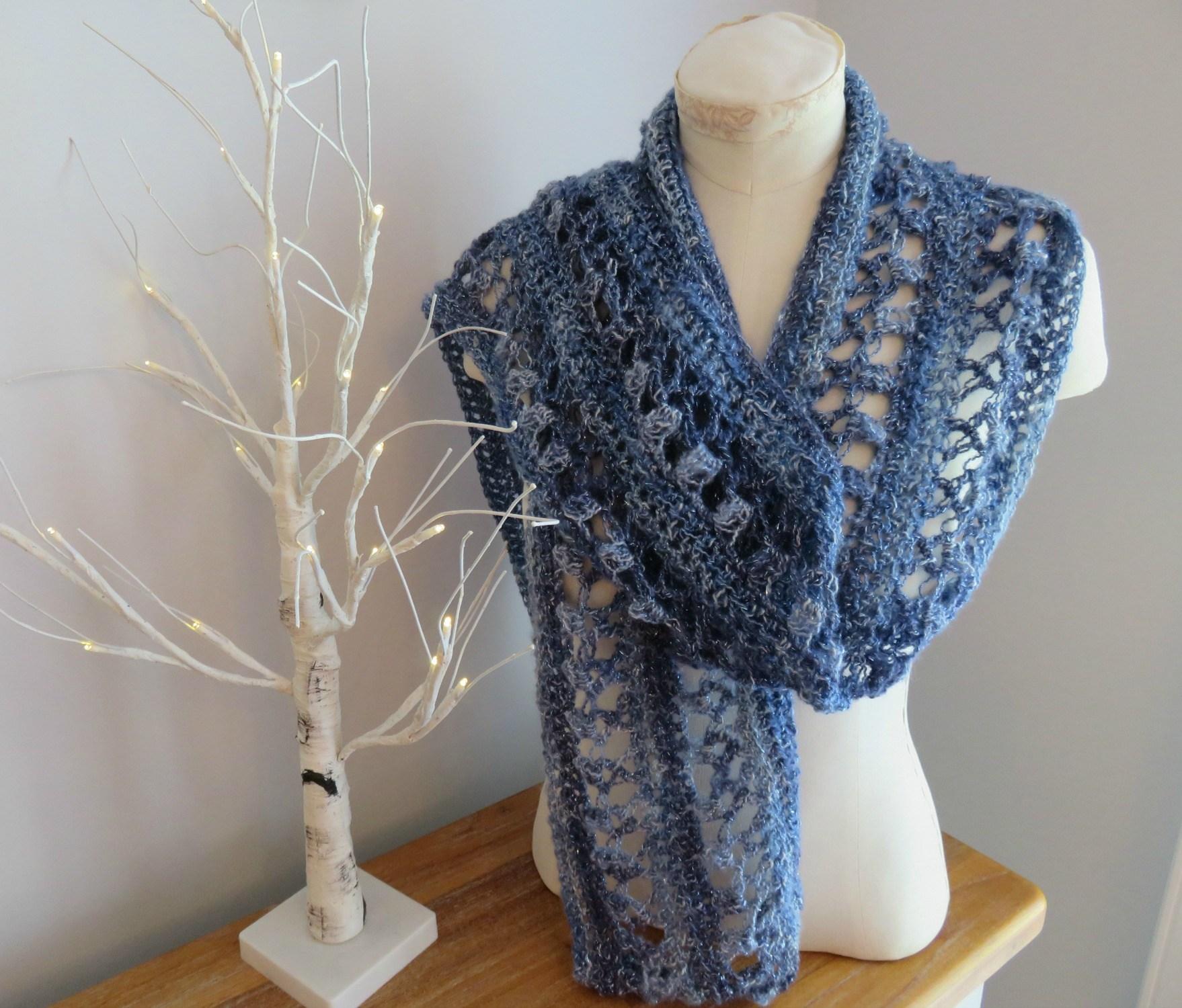 Crochet Patterns Galore Ocean Kiss Summer Scarf
