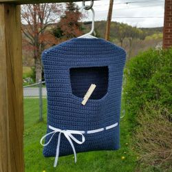 Blue Ribbon Clothespin Bag