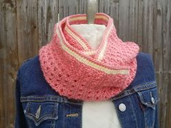 Strawberries and Cream X's & O's Infinity Scarf