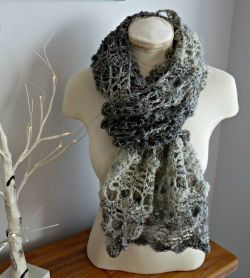 Opal Shell 2 in 1 Crochet Wrap & Scarf