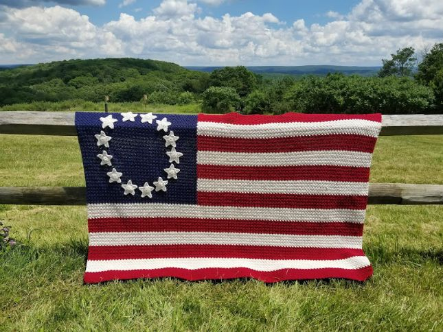 Crochet Patterns Galore Old Glory American Flag Afghan