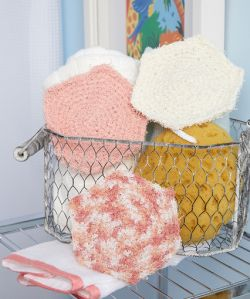 Crochet Hexagon Scrubby